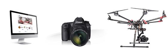 zakres usług foto i video z drona, aparatem i kamerą