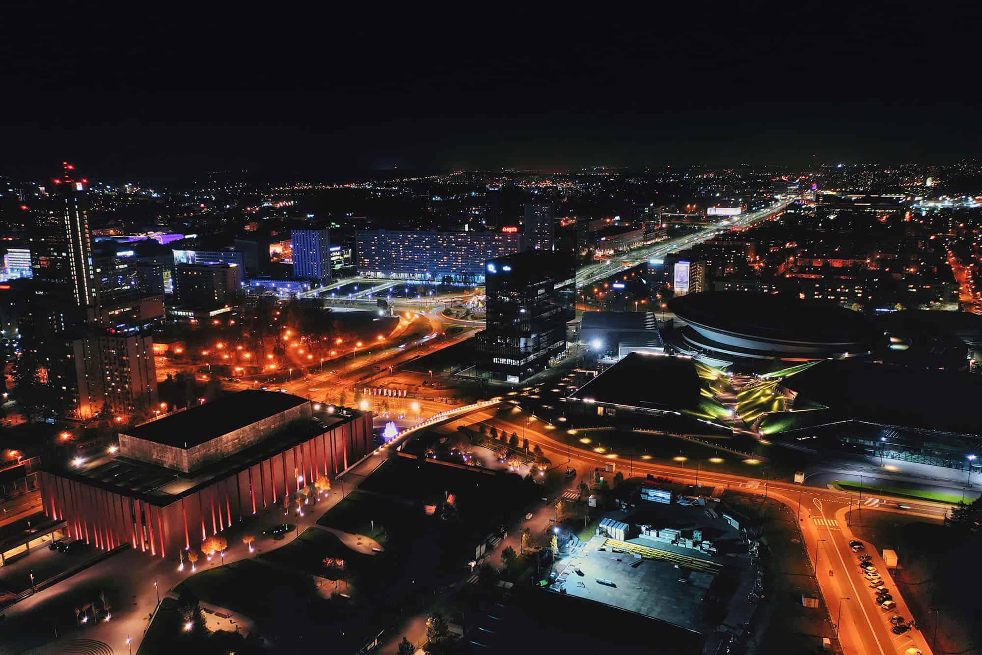 filmowanie z powietrza nad Katowicami