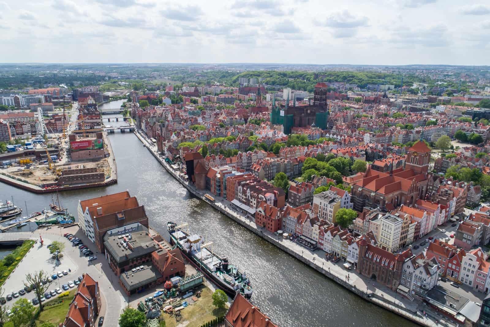 Filmy z drona Gdańsk