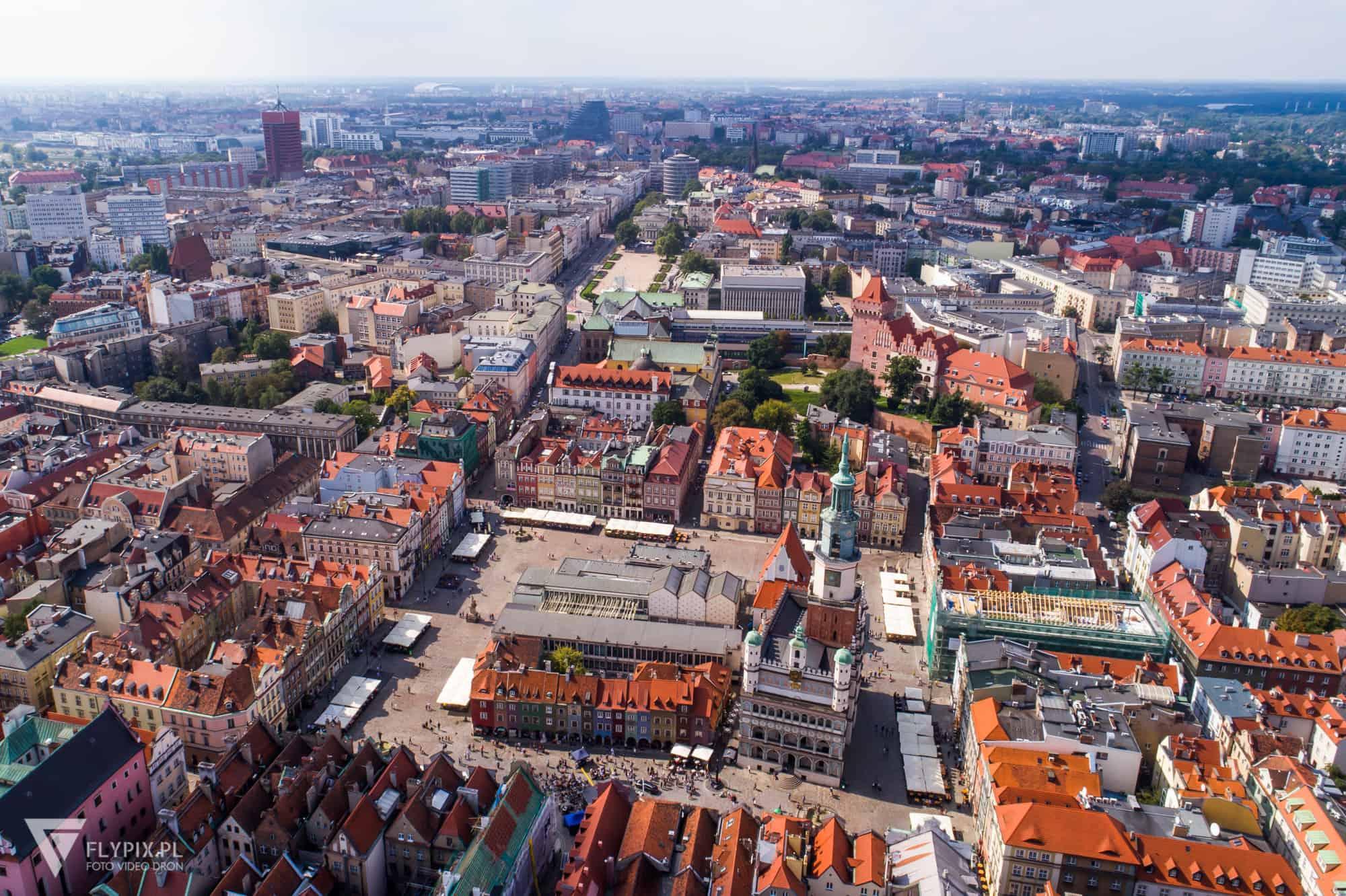 Filmy z drona w Poznaniu
